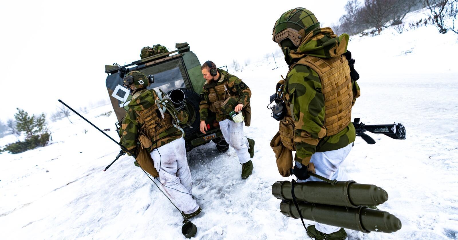 Et av HVs kanonlagunder en tidligere Nato-øvelse. Illustrasjonsfoto: Samuel Andersen/ Forsvaret