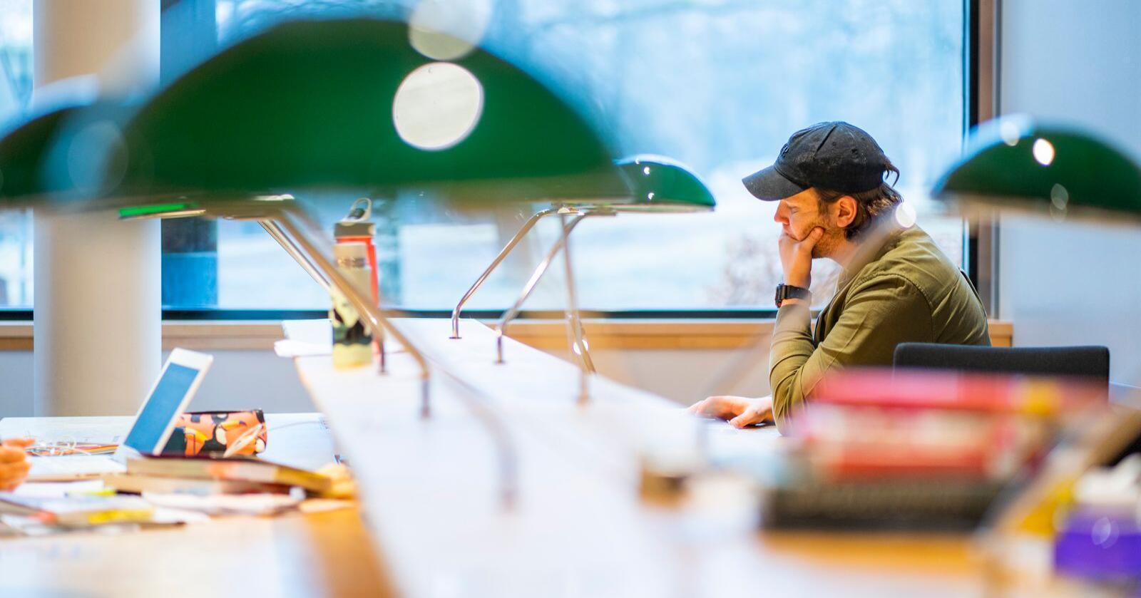 Det er studentane som bur i Oslo som i størst grad synest det er viktig med studietilbod i den kommunen dei bur i. Studentane i Midt-Noreg er dei som i størst grad meiner det er uviktig. Foto: Håkon Mosvold Larsen / NTB