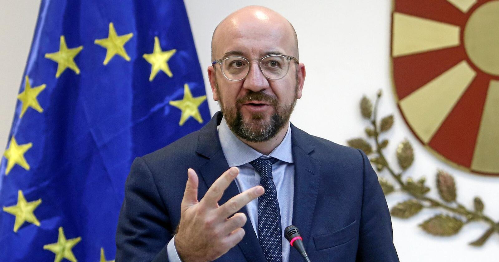 EU-rådet, som ledes av president Charles Michel, har gitt sitt formelle samtykke til brexitavtalen, som ble vedtatt av EU-parlamentet onsdag. Arkivfoto: Boris Grdanoski / AP / NTB scanpix