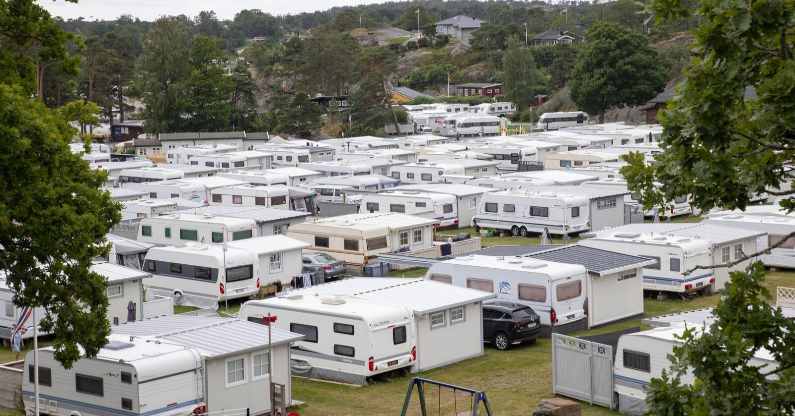 Camping var megapopulært i fjor. Her fra campingplassen på Lydhusstranda Camping ved Stavern utenfor Larvik. Foto: NTB / NPK