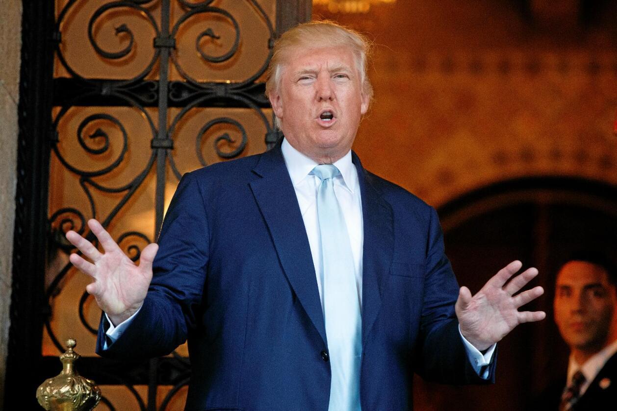 Under valgkampen gjorde Donald Trump det klart at frihandelsavtalen mellom EU og USA, TTIP-avtalen, ikke kommer til å se dagens lys.Foto: The Associated Press/Evan Vucci