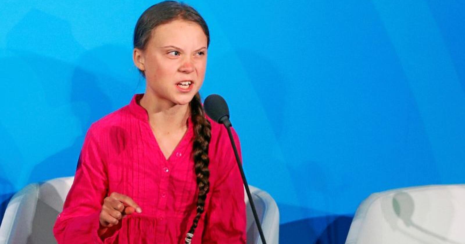 For sint og bastant? Greta Thunberg driver skremselspropaganda mener mange. Men miljøkampen trenger de brennende hjerter. Foto: Jason DeCrow / Ap / NTB scanpix