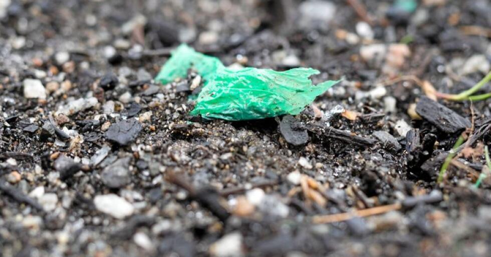 Mikroplast som havner i jorda, kan hope seg opp og renne ut i bekker og videre til havs. Foto: Erik Joner