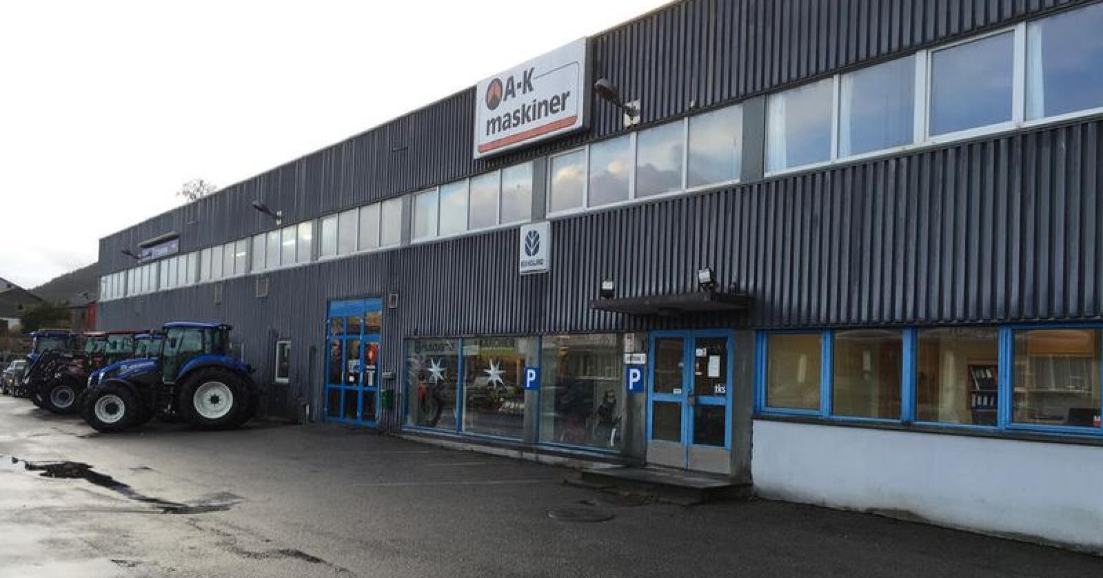 A-K Maskiners avdeling i Bergen har over flere år slitt med underskudd og svak omsetning. (Foto: A-K maskiner AS)