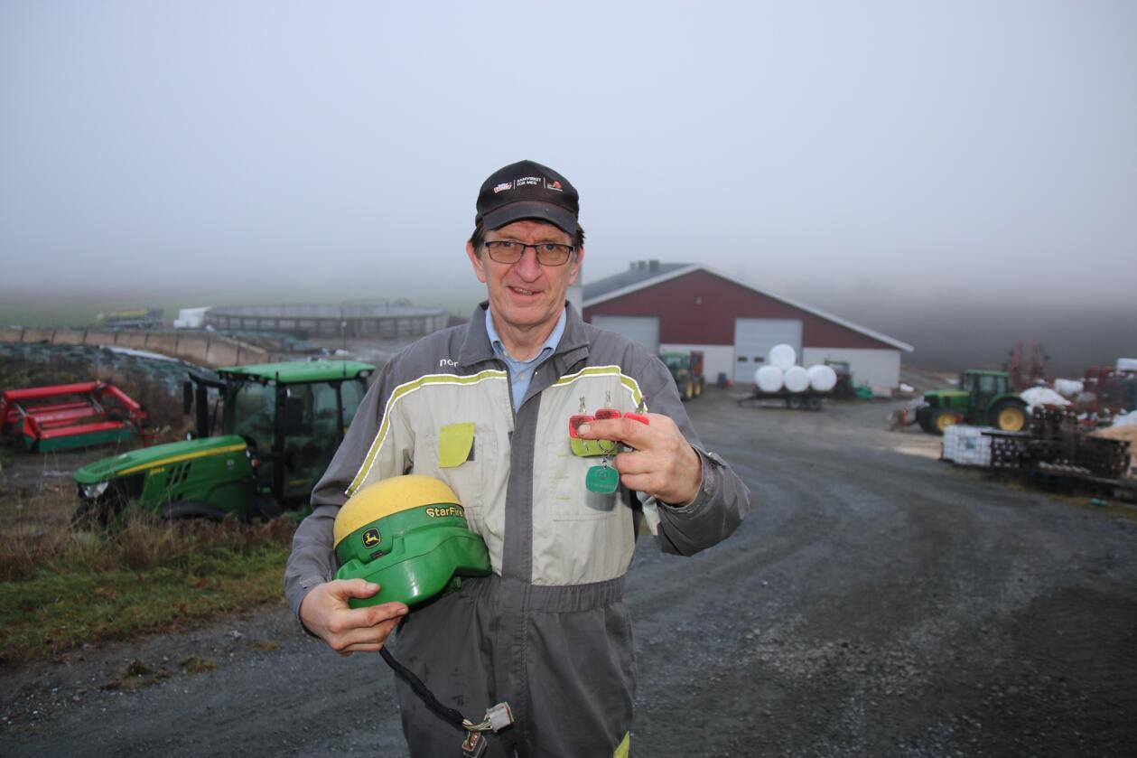 TYVERI: Leif Ove Sørby opplevde både i 2016 og 2019 at dyrt GPS-utstyr ble stjålet i løpet av natta. Foto: Knut Houge