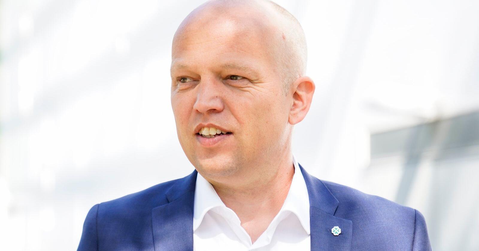 Trygve Slagsvold Vedum går tydelig fram på TV 2s nye statsministermåling. Foto: Torstein Bøe / NTB