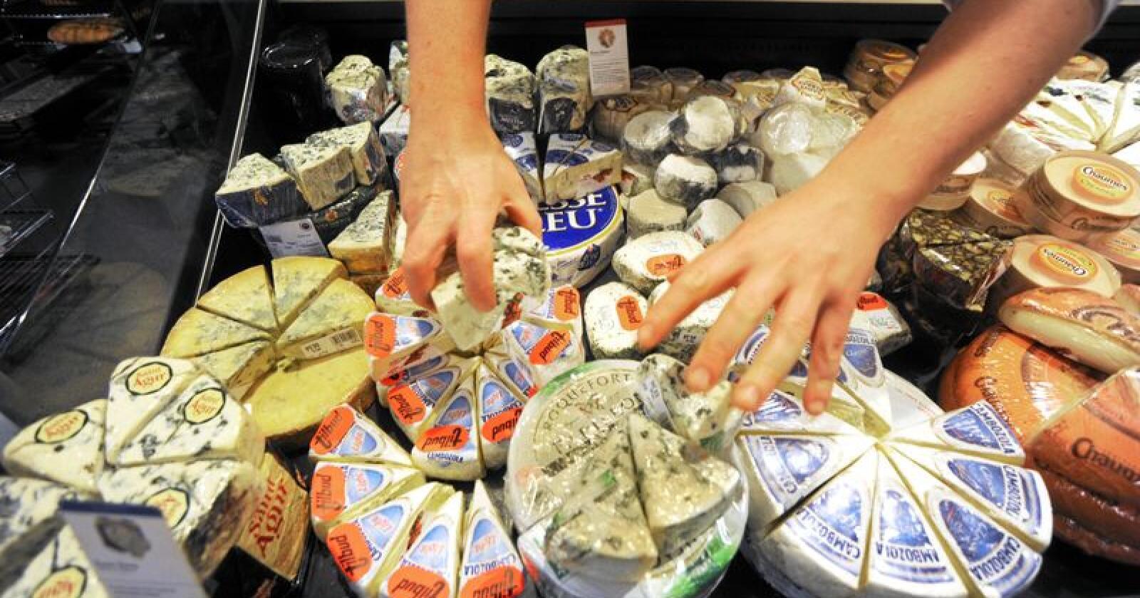 Salget av utenlandsk ost er blant de importerte varene som har økt betydelig de siste årene. Foto: Siri Juell Rasmussen