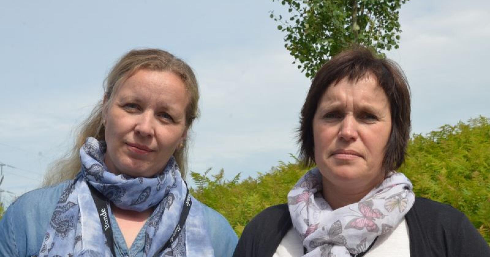 Går sammen: Fylkeslederne Borgny Grande i Nord-Trøndelag (til venstre) og Kari Åker i Sør-Trøndelag er godt i gang med samarbeidet, og vil slå seg sammen i ett Trøndelag Bondelag for å beholde slagkraften. (Foto: Stian Eide)