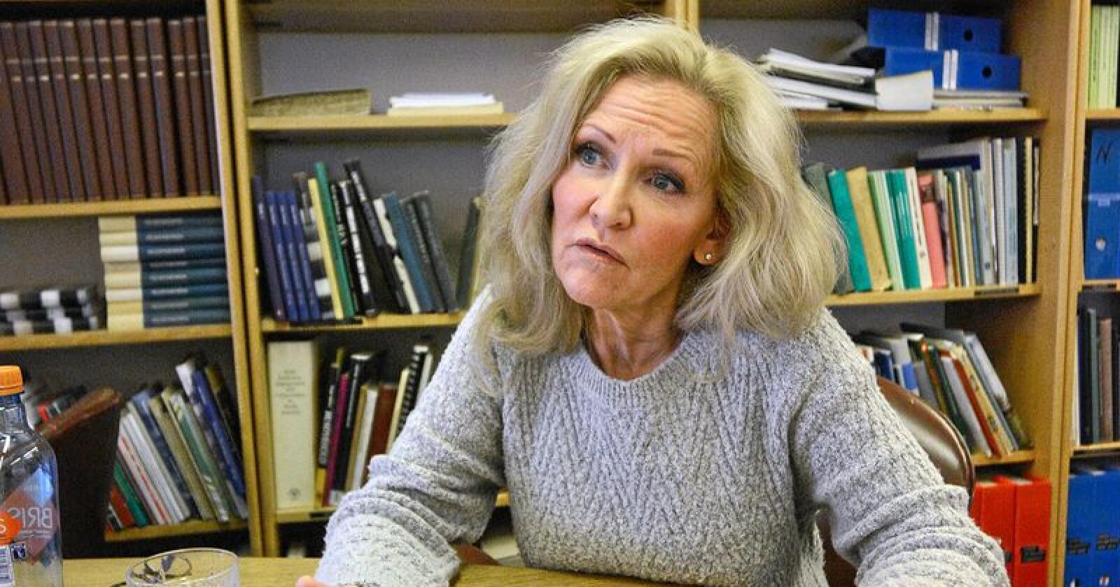 Guri Wormdahl, informasjonssjef Norges Pelsdyralslag, synes det er vanskelig å svare på om det er mulig å gjenoppbygge tilliten til Mattilsynet. Foto: Siri Juell Rasmussen