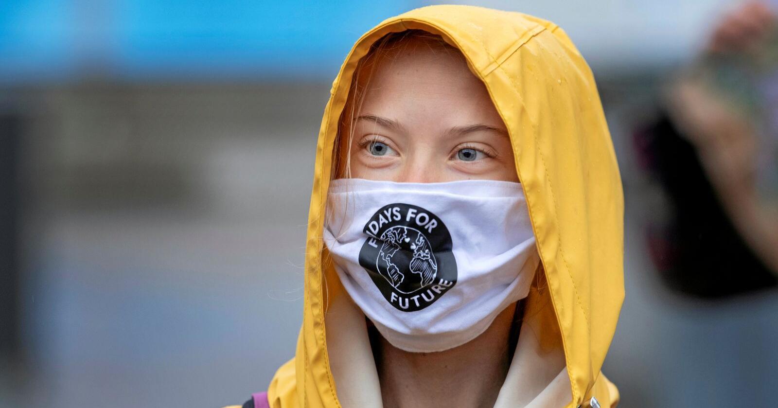 Klimaaktivisten Greta Thunberg er blant dem som har kritisert den nye landbrukspolitikken EU vedtok fredag. Foto: Jessica Gow/TT/AP