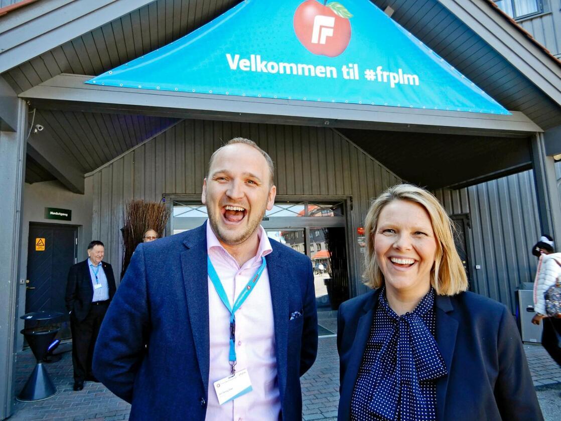 Landbruksministre: Jon Georg Dale og Sylvi Listhaug hadde begge landbruksdepartementet som sin første ministerpost. (Foto: Geir H. Strand/Sunnmørsposten)
