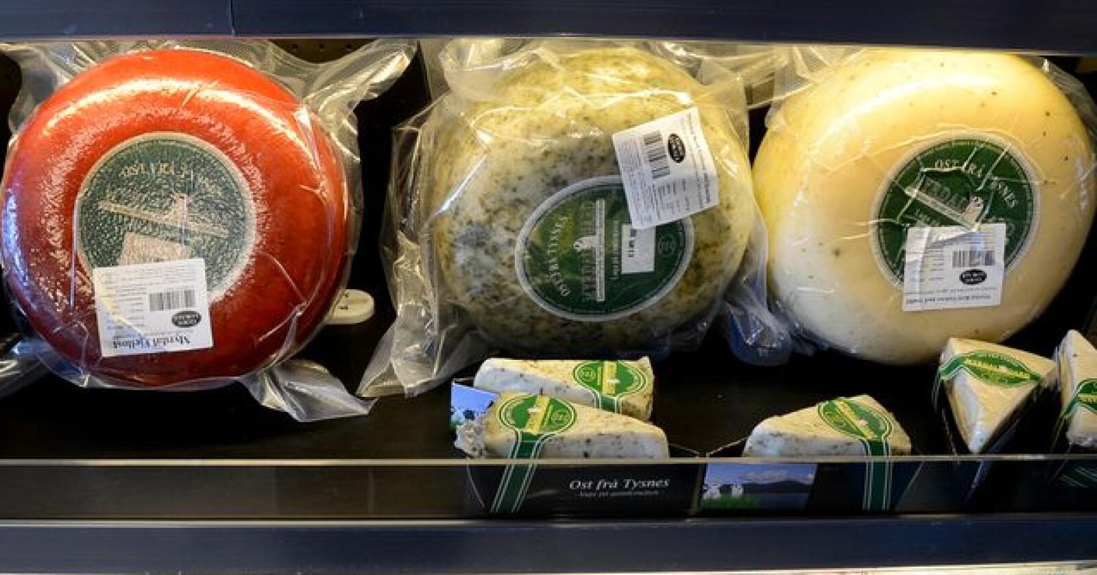 Bildet viser lokae oster fra Tysnes. Foto: Mariann Tvete