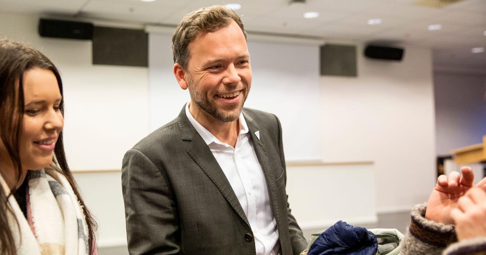 SV-leder Audun Lysbakken under partiets landsstyremøte nylig. Foto: Tore Meek / NTB scanpix