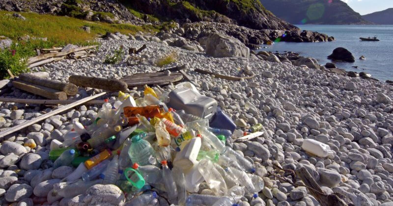 I byrjinga av mai er det nasjonal dugnad for å få strendene våre reine for søppel. Foto: Bo Eide / Hold Norge Rent