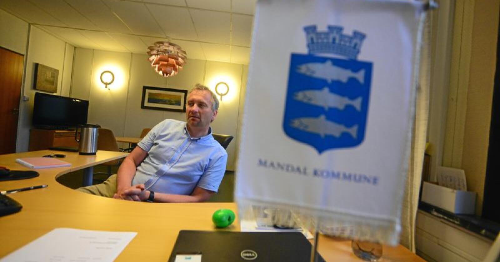 Fenger mindre: Færre i Mandal møter opp for å stemme over ordfører Alf Erik Andersen enn over Erna og Jens. Foto: Siri Juell Rasmussen.