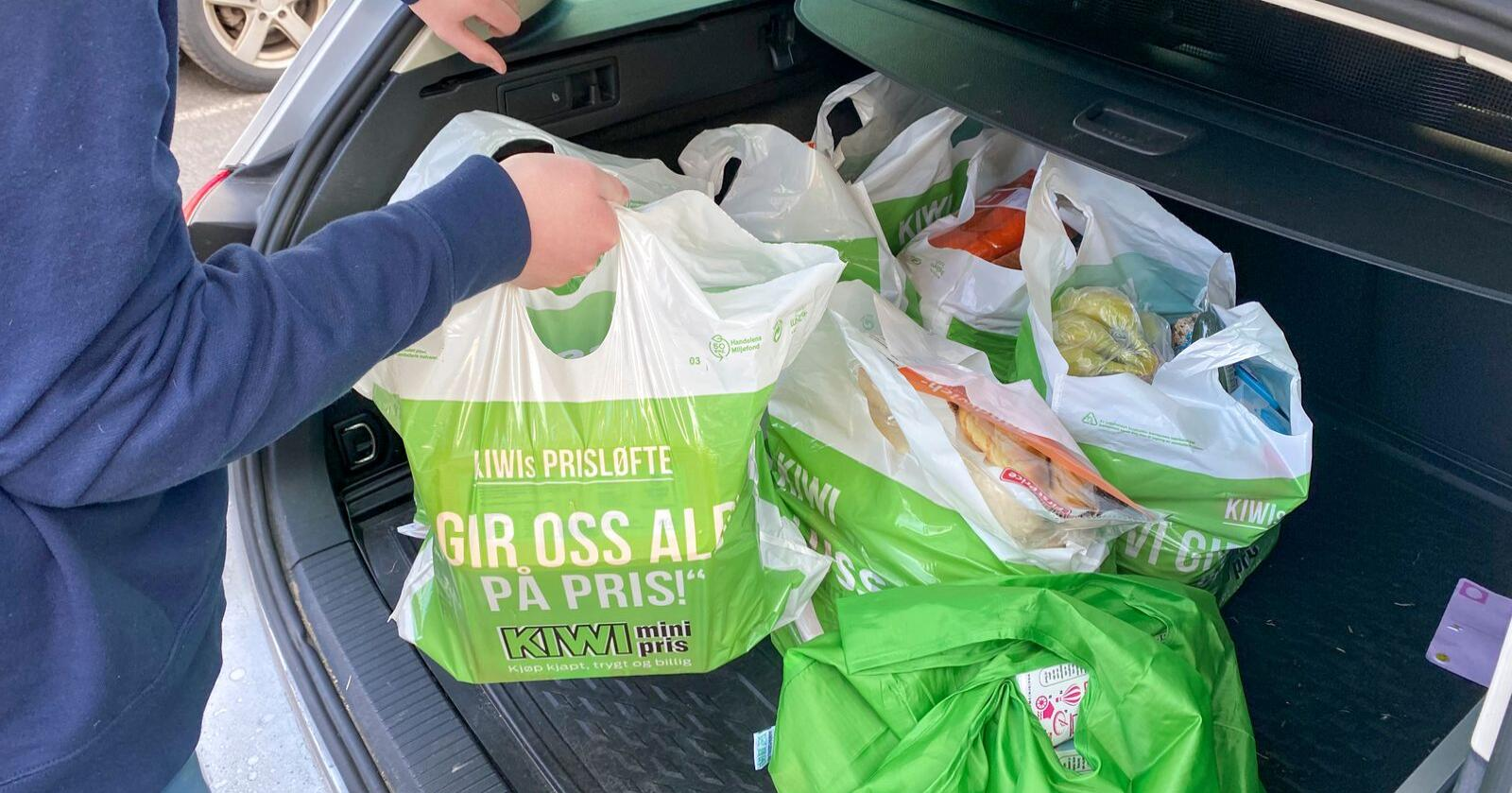 Dagligvarekjedene er ikke enige om hvordan matprisene utvikler seg. Norgesgruppen tror handleposene blir dyrere.  Foto: Erik Johansen / NTB scanpix
