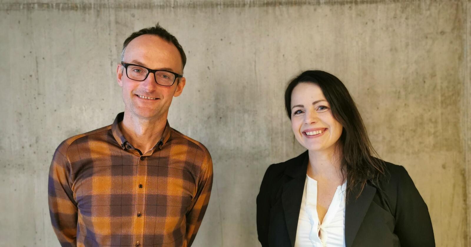 Anders Felde og Marianne Nordhus skal leie Vestland Bondelag det neste året. Nordhus er nyvald nestleiar. (Foto: Vestland Bondelag)