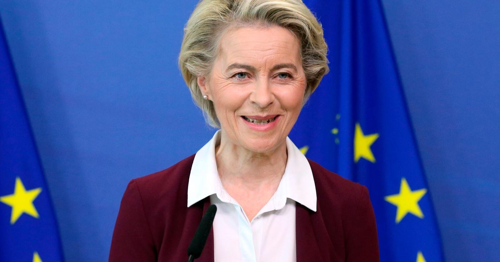 EU-kommisjonens leder Ursula von der Leyen presenterte onsdag det hun betegnet som en historisk pakke med klimatiltak som skal gjøre det mulig å nå målet om å gjøre EU-landene klimanøytrale innen 2050. Foto: AP / NTB