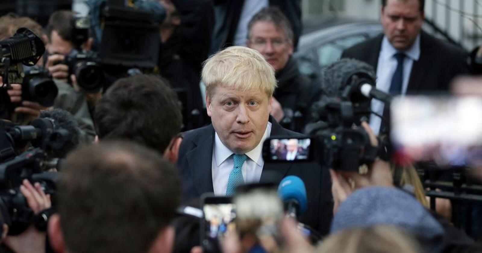 Boris Johnson var en av frontfigurene i kampanjen for å få Storbritannia ut av EU. Nå er han favoritt til å bli ny partileder i Det konservative partiet. Foto: Tim Ireland / AP / NTB scanpix