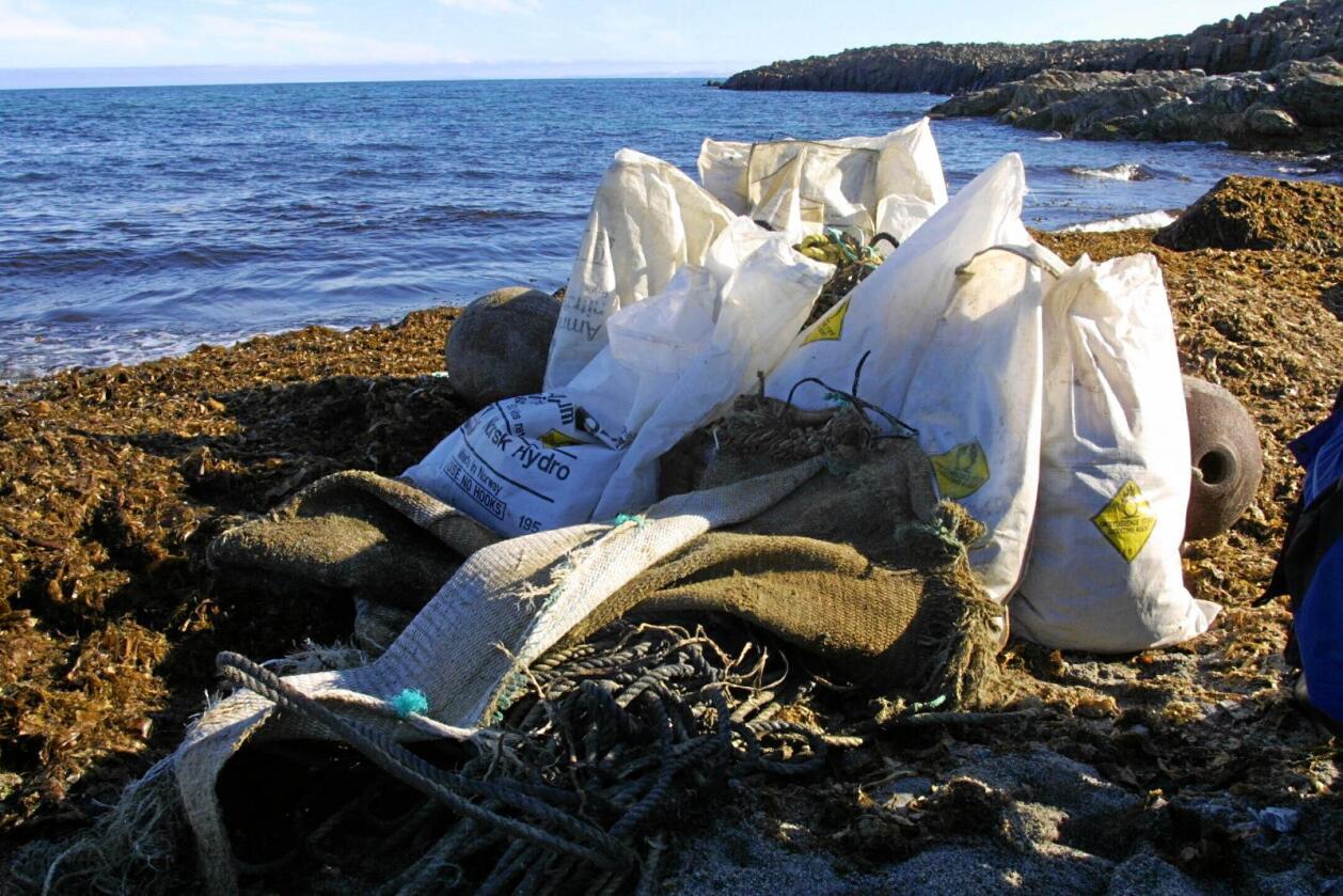 Avfall: Havet samler plast. Foto: Jan-Morten Bjørnbakk/NTB scanpix