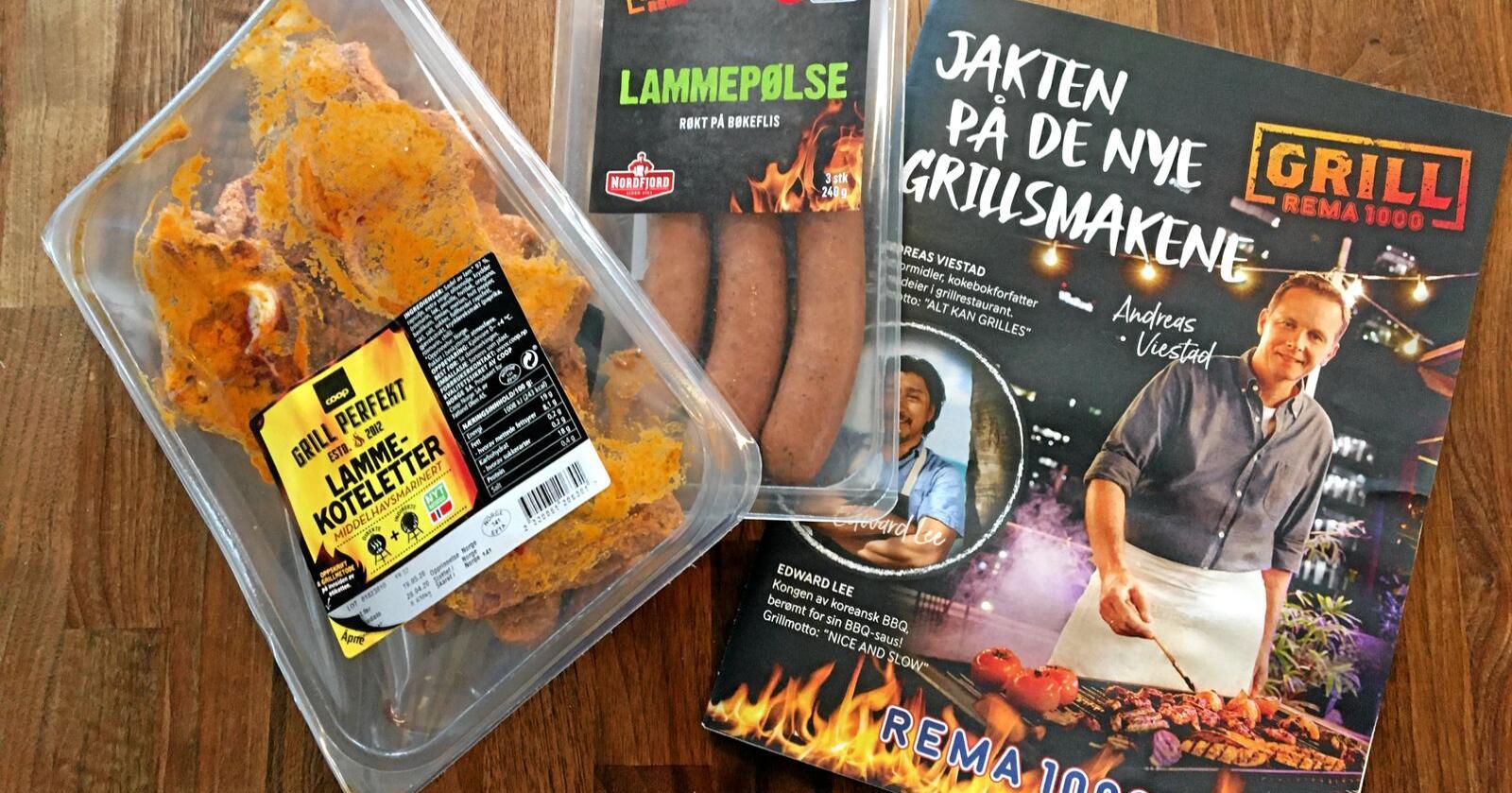 Lite omtalt : Du finner lammekjøtt til grillen - om du leter litt. Foto: Hans Bårdsgård