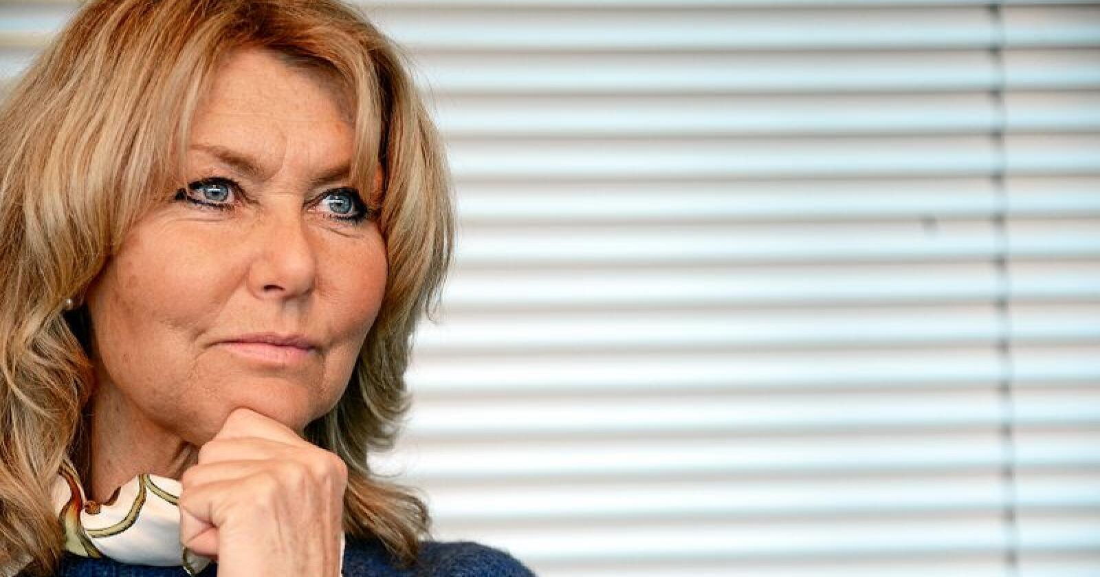 Hanne Alstrup Velure er leder i Utmarkskommunenes Sammenslutning. Foto: Siri Juell Rasmussen