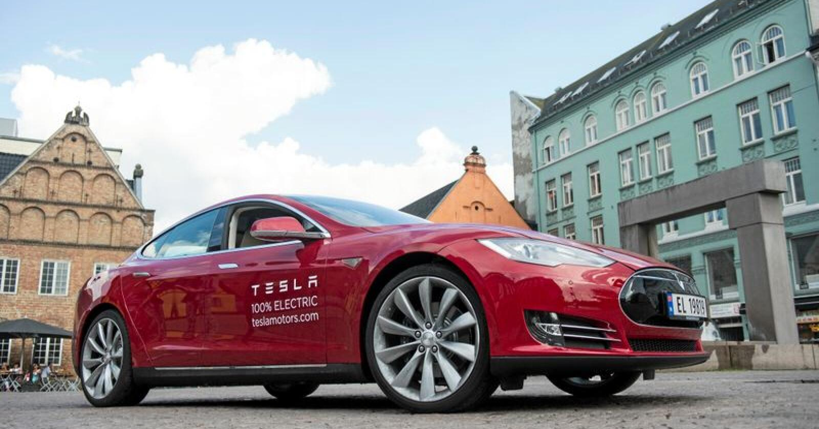 En rød klut: Den nye Tesla-fabrikken i Tyskland er omstridt. Foto: Aleksander Andersen / NTB scanpix