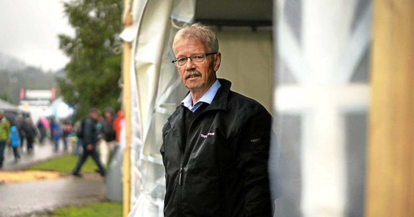 Administrerende direktør i Norsvin, Olav Eik-Nes, gleder seg stort over utviklingen for det internasjonale selskapet Topigs Norsvin. Foto: Benjamin Hernes Vogl