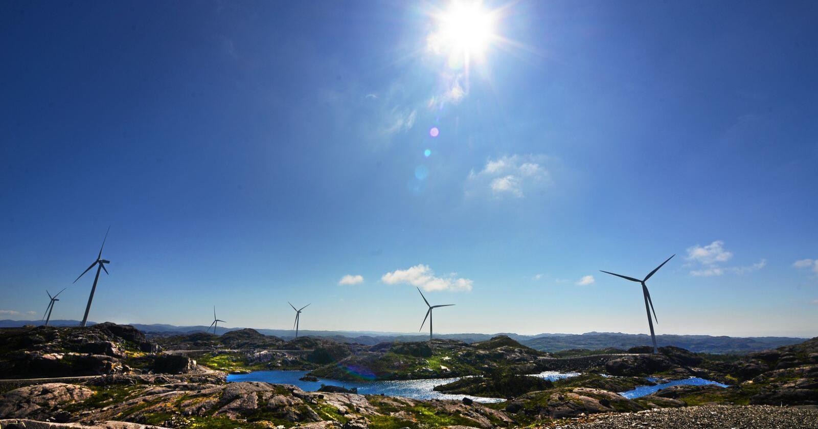 Det har vært mange demonstrasjoner mot vindkraftutbygginga på Haramsøy. Illustrasjonsfoto: Siri Juell Rasmussen