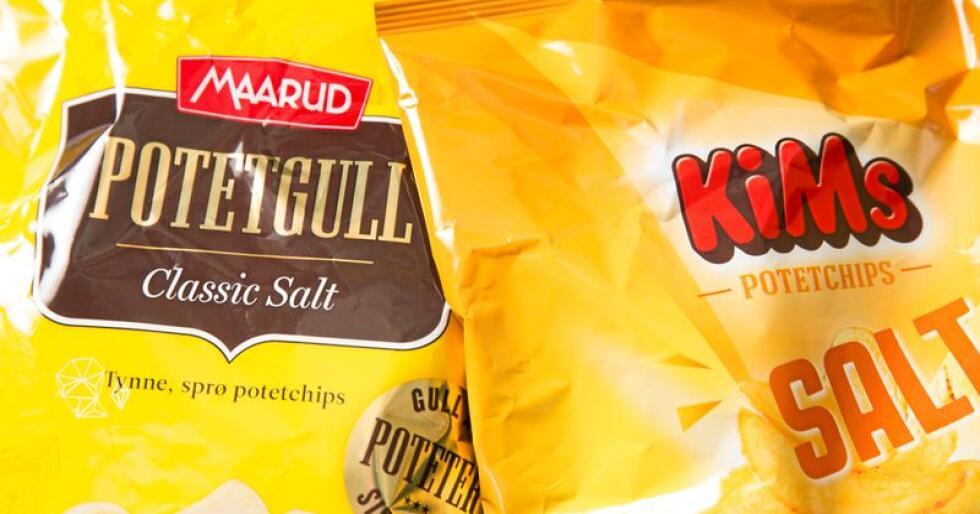 Både Maarud og Orkla med sitt snacksmerke Kims hadde et løft i salget av potetgull i fjor. Foto: Terje Bendiksby / NTB scanpix
