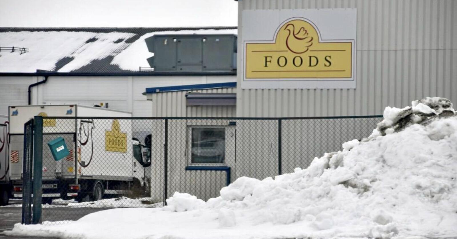 Krokstad industriområde har i flere år vært produksjonslokalene til Foods AS. Nå har et nytt selskap etablert seg i produksjonslokalene: Foto: Nationen