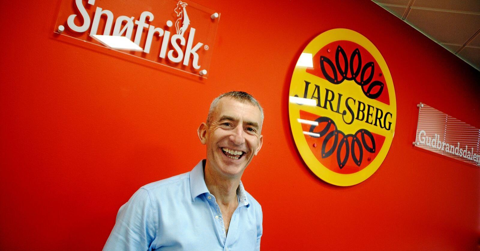 Stuart Storey er administrerende direktør i Norseland, datterselskapet til Tine som selger norske merkevarer som Jarlsberg og Snøfrisk i Storbritannia. Intervju tatt i forbindelse med brexit utenfor London.