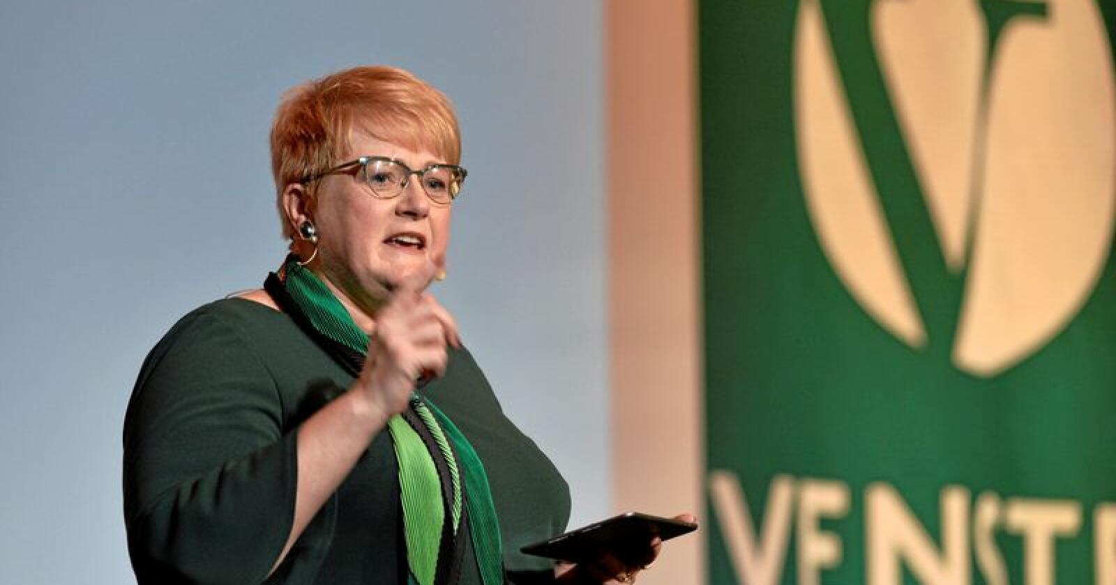 Trine Skei Grande under Venstres landsmøte 2019. Foto: Ned Alley / NTB scanpix