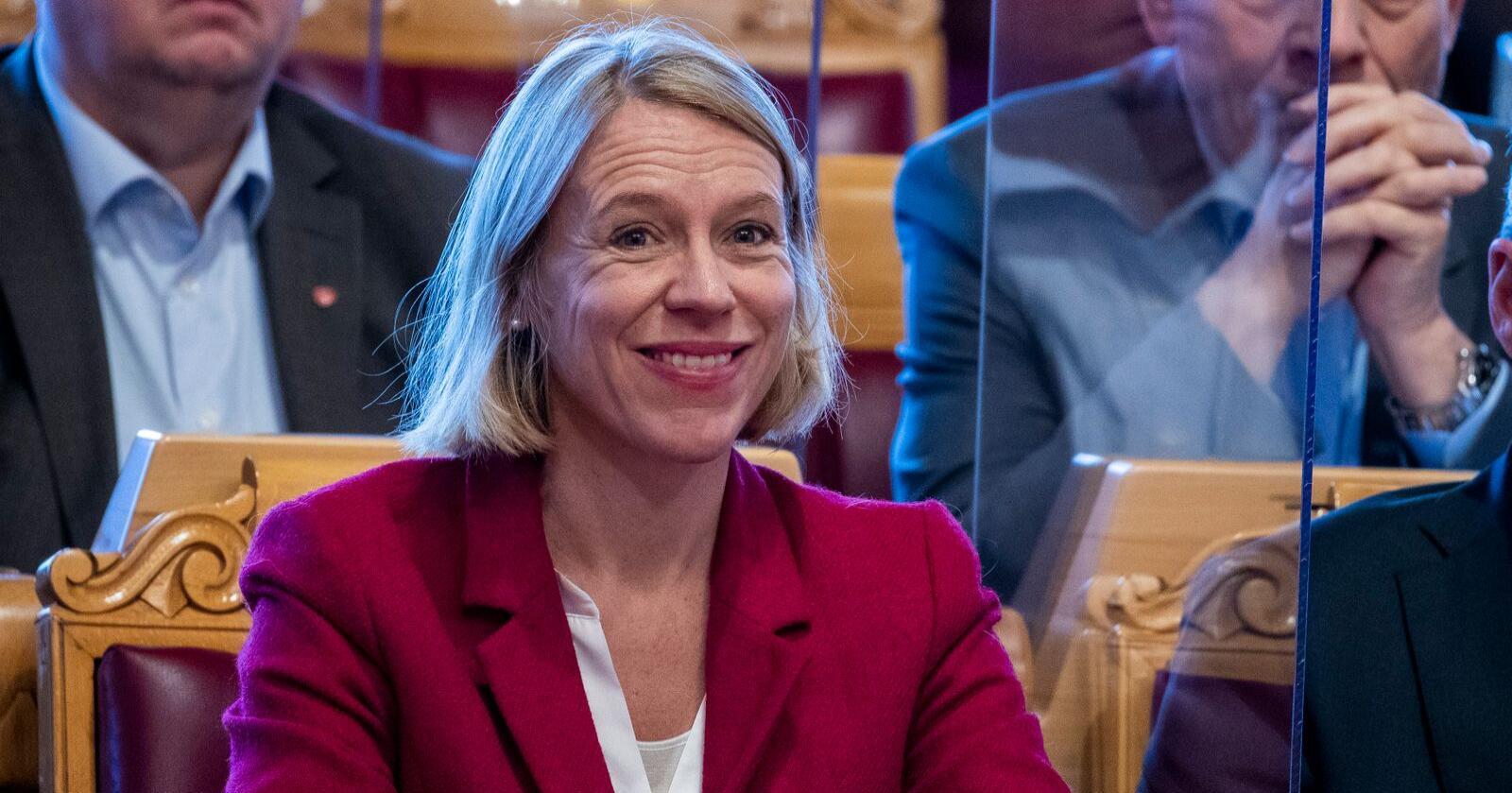 Arbeiderpartiets Anniken Huitfeldt er i ferd med å sluttføre samtalene om ny forsvarsstruktur i Stortinget. Foto: Terje Pedersen / NTB