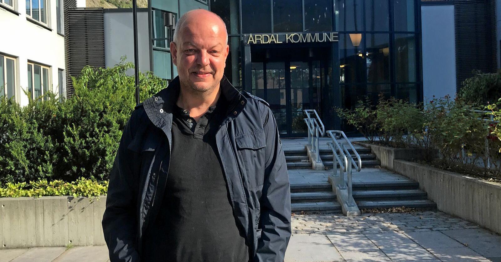 Hilmar Høl, er ordførar i Årdal. Foto: Astrid Sverresdotter Dypvik