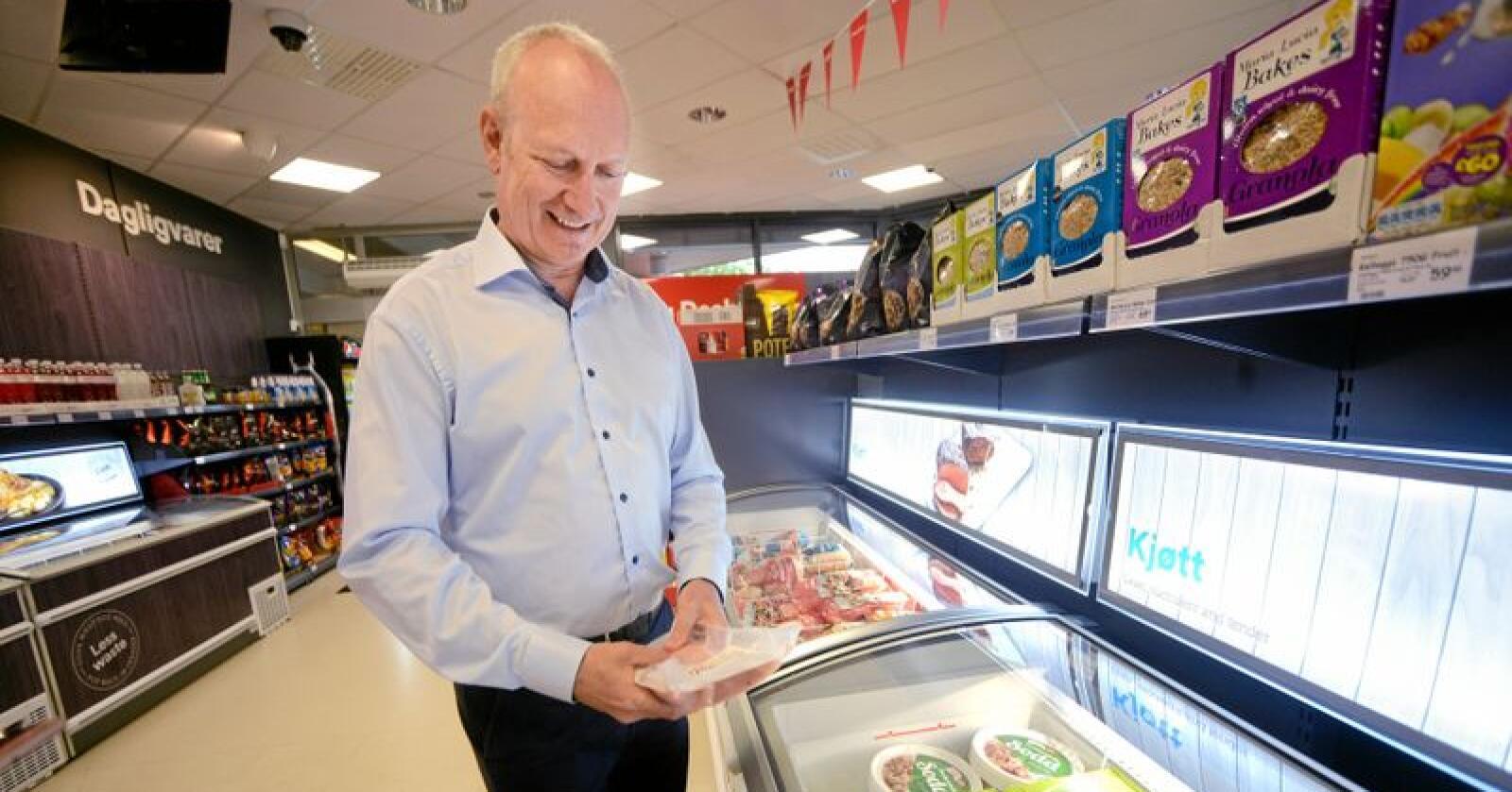 Geir Olav Opheim er sjef for den britiske dagligvarekjeden Iceland Foods i Norge. Foto: Siri Juell Rasmussen