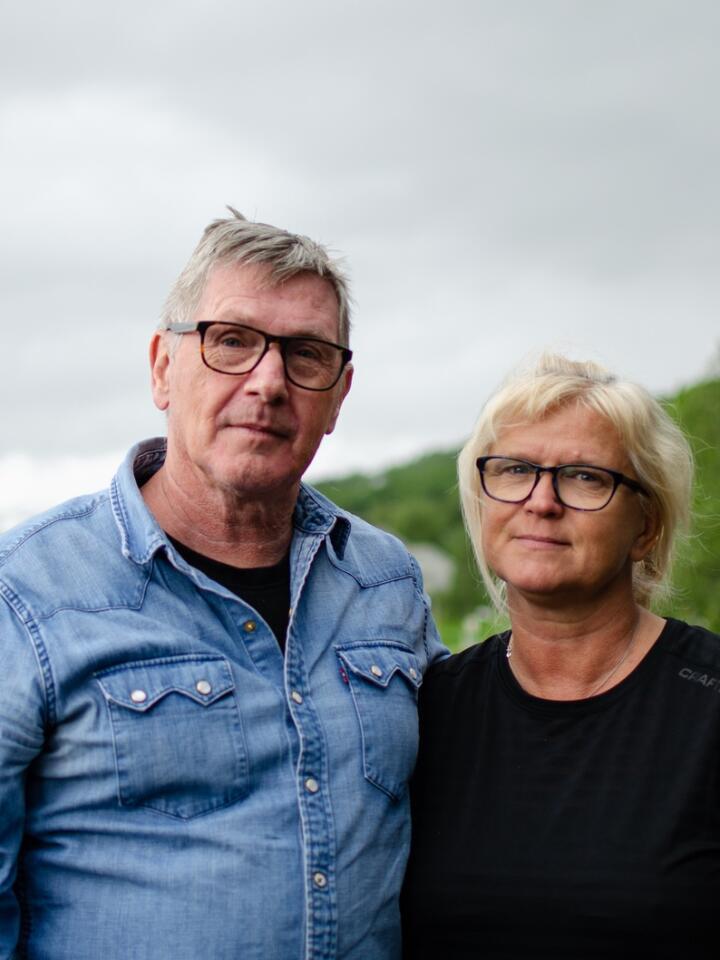 Gunnar og Tone Sæbø fra Sjøvegan mistet sønnen sin, Simon, på Utøya i 2011. Foto: Ingrid Godager