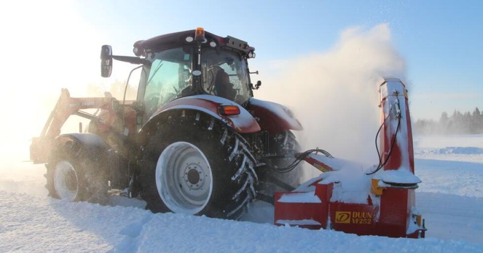 Case IH er det traktormerket som har hatt den beste starten på året. Foto: Even Mangerud