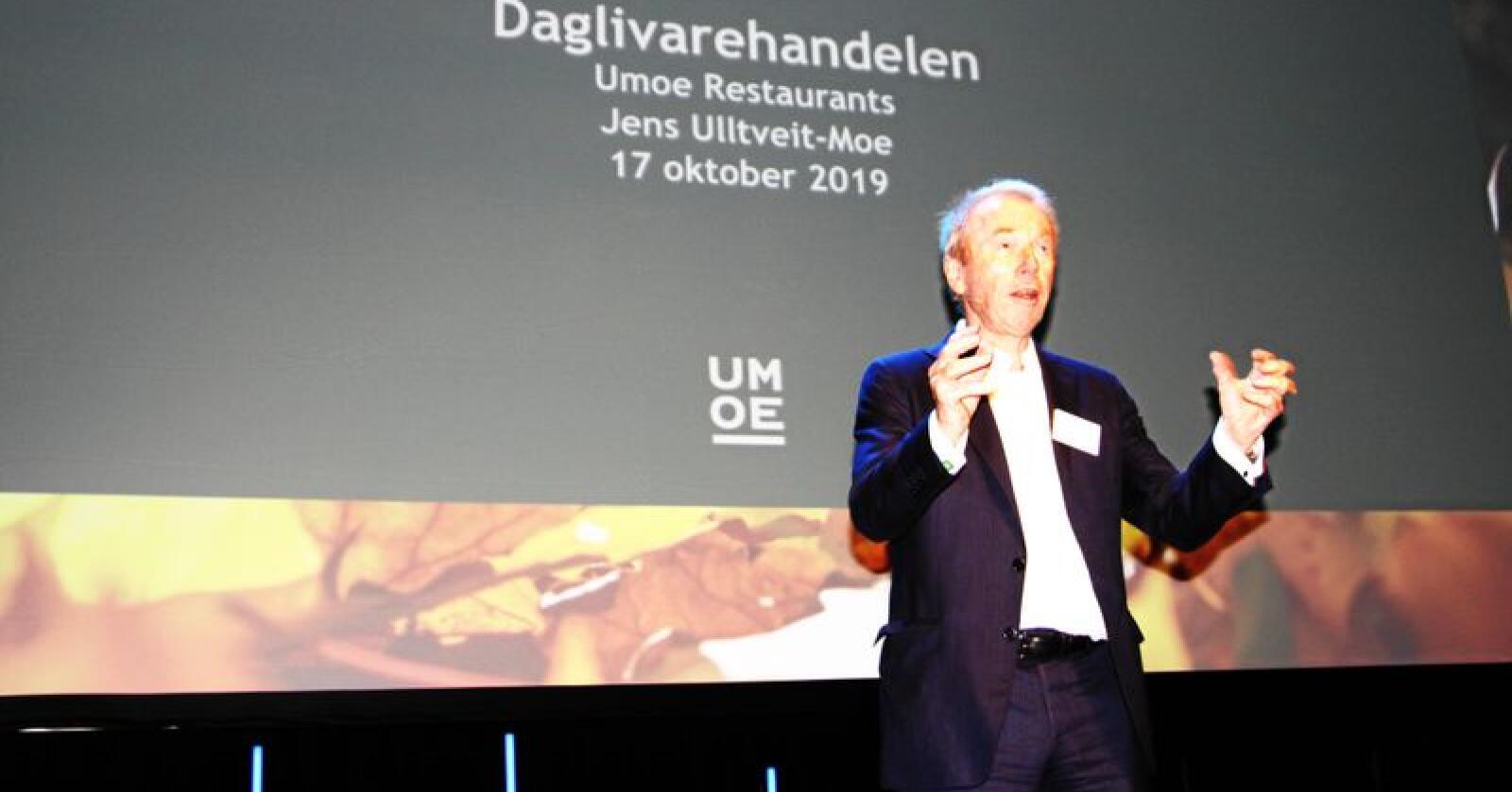 Forretningsmann og restaranteier Jens Ulltveit-Moe tror det grønne skiftet vil merkes både blant bønder og i restaurantbransjen. Foto: Christiane Jordheim Larsen