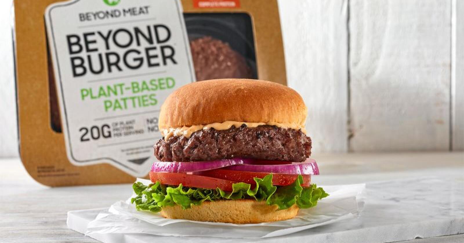 Uten kjøtt: Må mat være prosessert for å telle? Neste steg er kunstig kjøtt. Er det bra for naturen? Foto: Beyond Meat