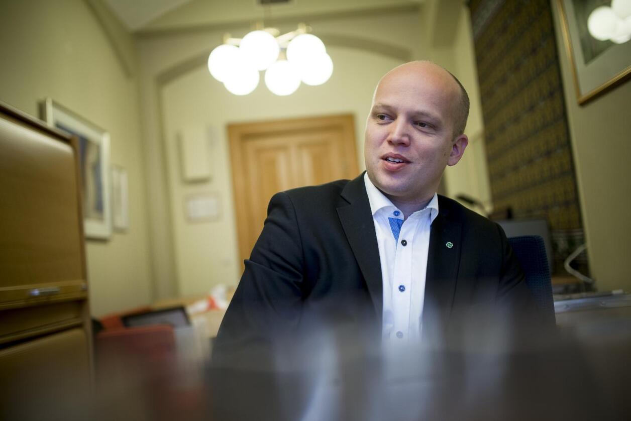 Sp-leder Trygve Slagsvold Vedum mener Norges OL-nei er en klar beskjed om at vi ikke godtar IOKs krav om privilegier. Foto: Skjalg Bøhmer Vold