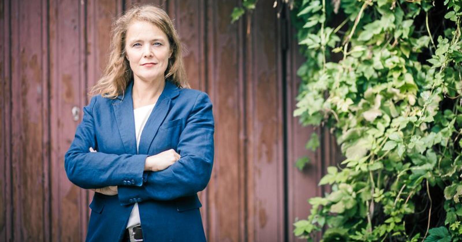 Pernille Huseby, generalsekretær i Actis – Rusfeltets samarbeidsorgan, mener Venstres Guri Melby i sin omtale av rusmidlet cannabis er med på å normalisere det. Foto: Lene Neverdal / Actis