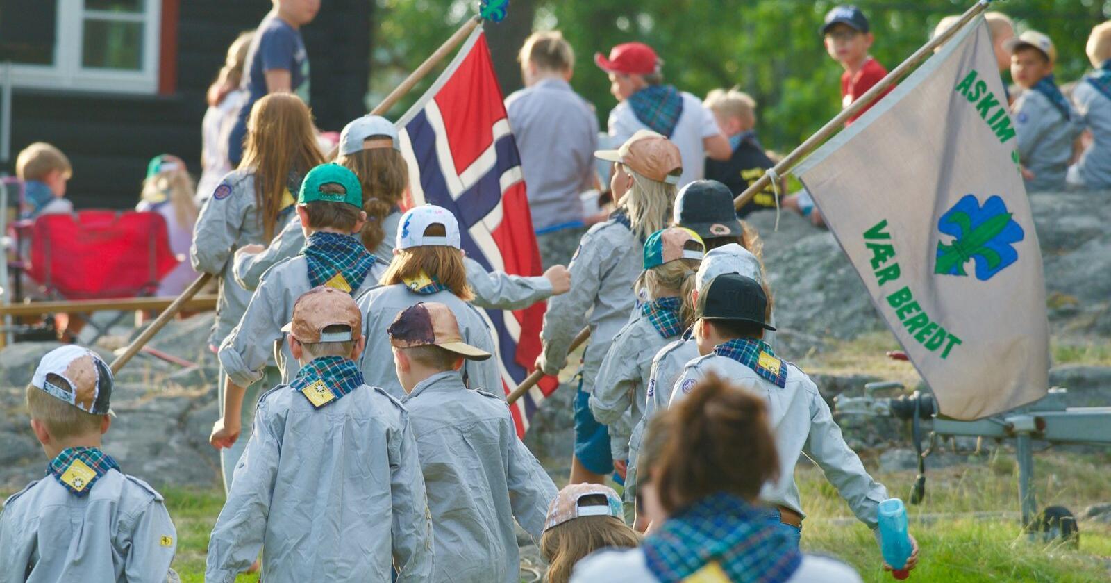 Norges speiderforbund er en barne- og ungdomsorganisasjon med formålet om å skape selvstendige og ansvarsbevisste barn og unge ved bruk av natur og friluftsliv. Foto: Thomas Markento Andresen