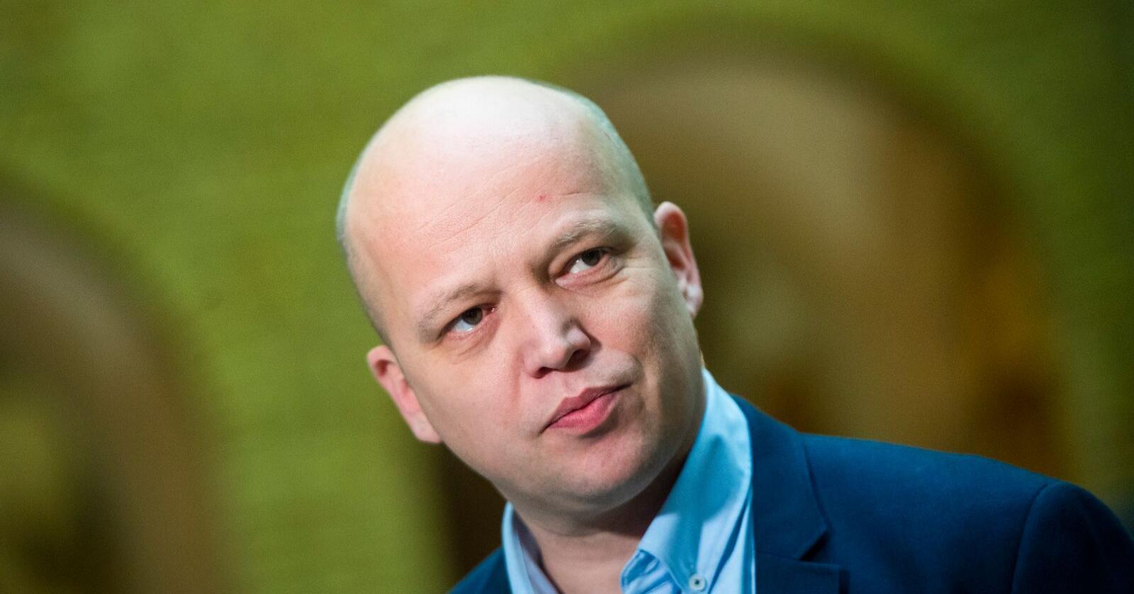 Leder i Senterpartiet, Trygve Slagsvold Vedum, legger onsdag fram et forslag om å opprette et norsk kornlager. Foto: Fredrik Varfjell / NTB scanpix