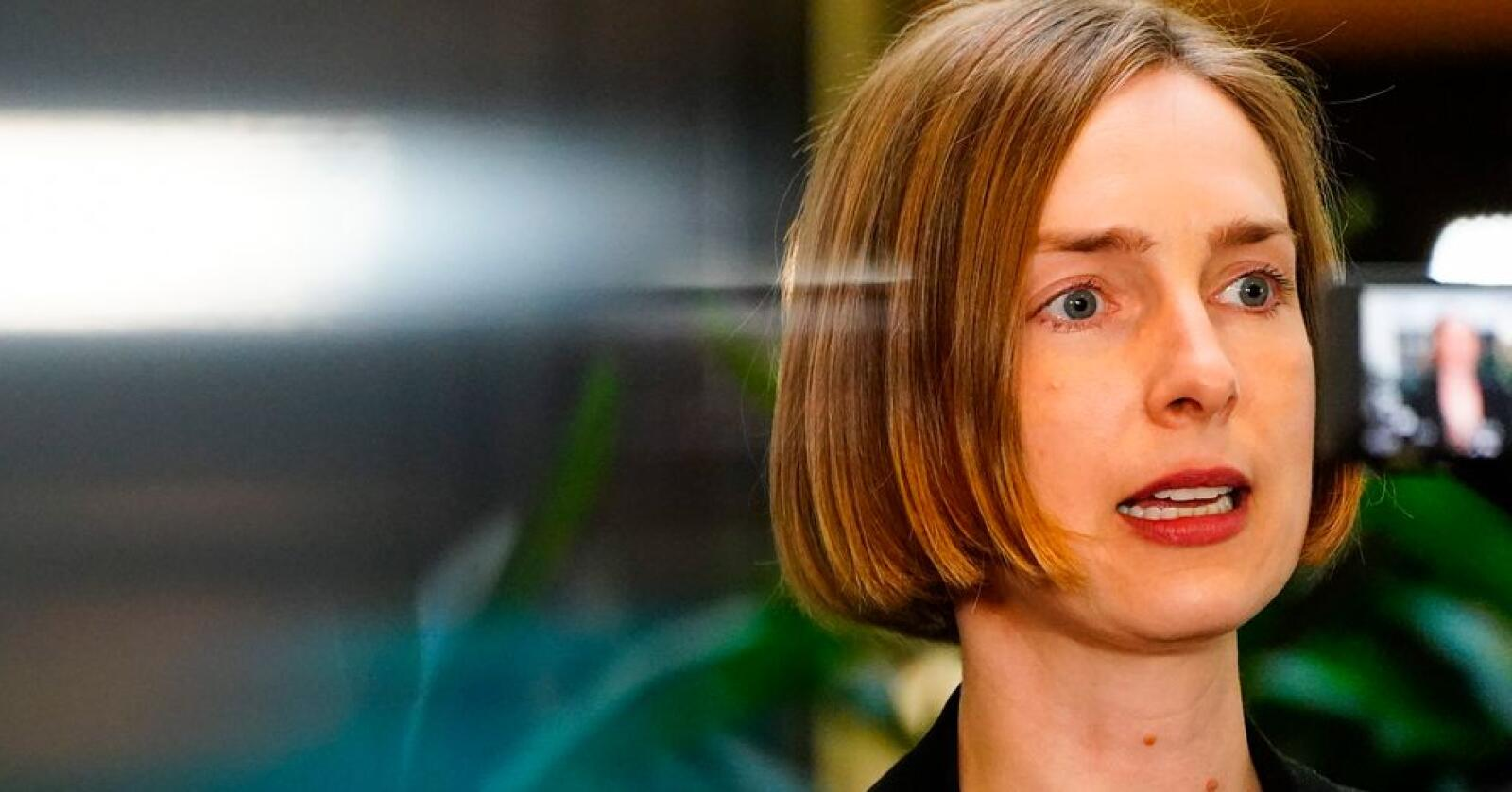 Næringsminister Iselin Nybø (V) og regjeringen gir reiselivet 2 millioner kroner i støtte til å utvikle en ny klimakalkulator og en nasjonal kunnskapsplattform. Foto: Lise Åserud / NTB
