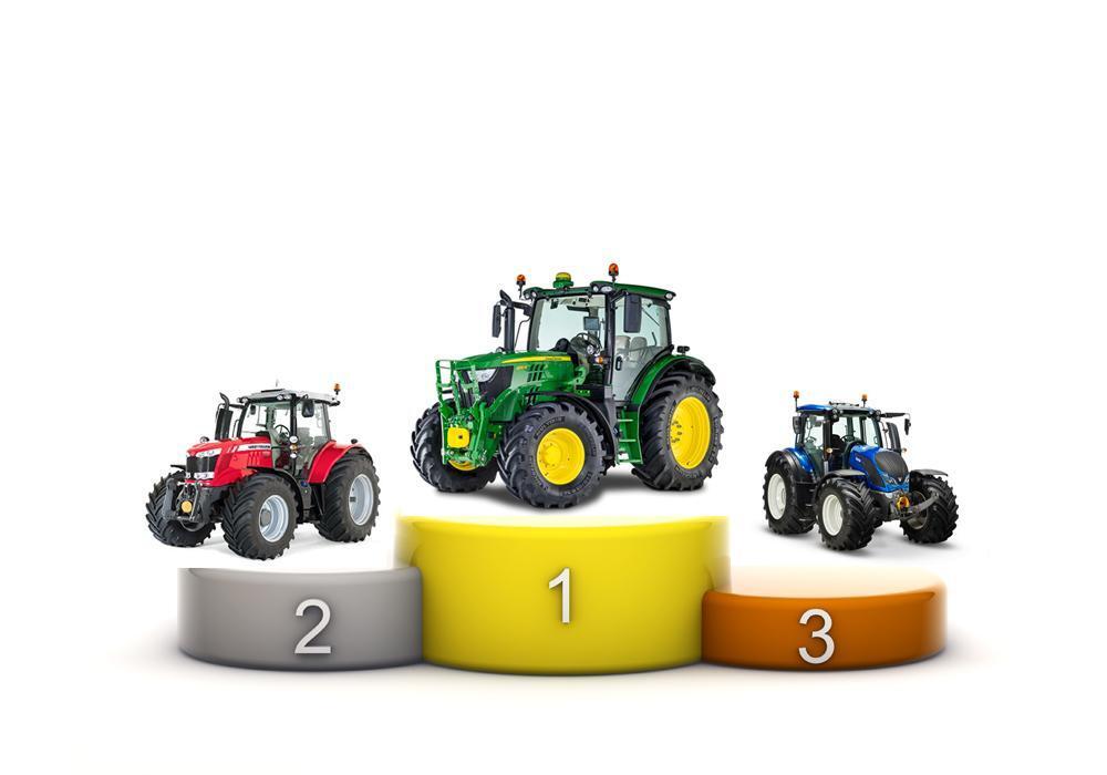 John Deere gjeninntok posisjonen som landets mest solgte traktormerke i 2015. På de øvrige pallplassene finner vi Massey Ferguson og Valtra.