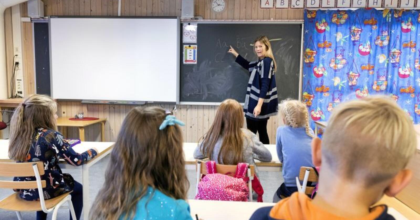 Noregs Mållag meiner skulen har eit spesielt ansvar for å gje elevar som har nynorsk som hovudmål ein språkleg tryggleik, og at ein ny læreplan i norsk må ta høgd for dette. Illustrasjonsfoto: Gorm Kallestad / NTB scanpix / NPK