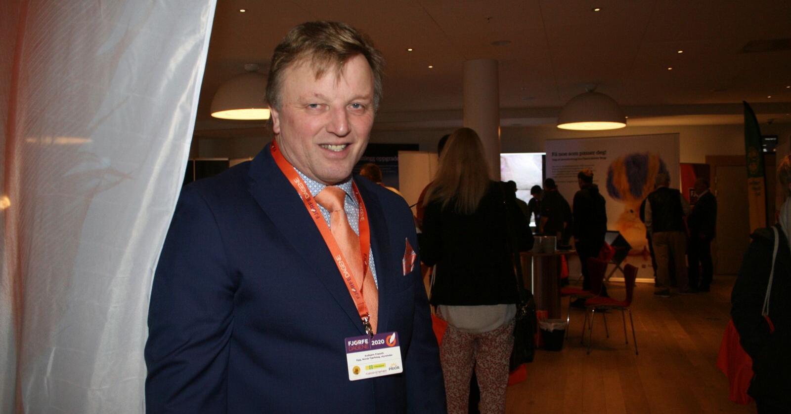 Styreleder i Norsk Fjørfelag, Kolbjørn Frøseth, får fornyet tillit. Foto: Bjarne Bekkeheien Aase