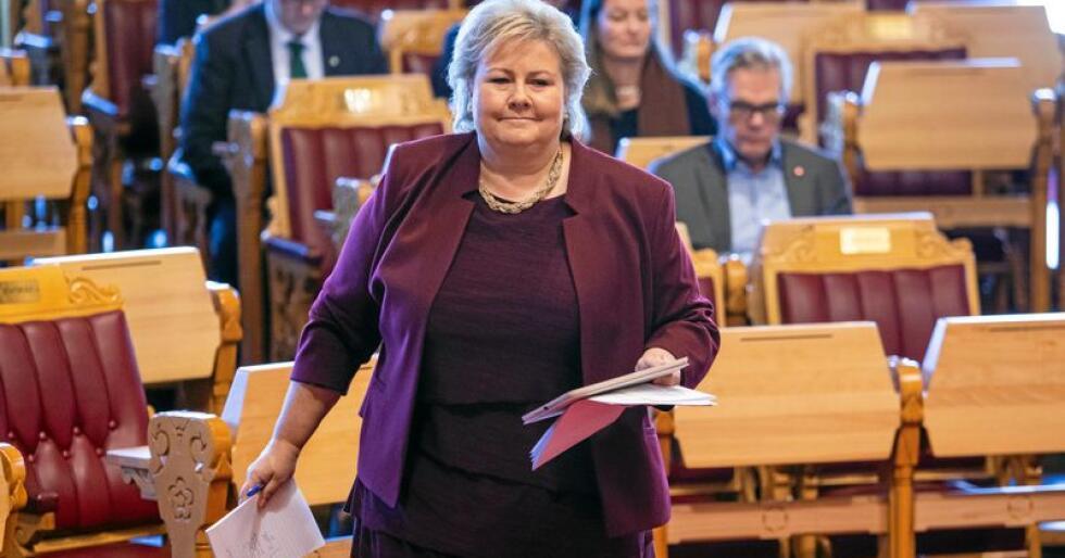 Statsminister Erna Solberg andre norske politikere må ta på alvor at det er geografiske og sosiale forskjeller i hvem som deltar i politikk. Foto: Tore Meek / NTB scanpix
