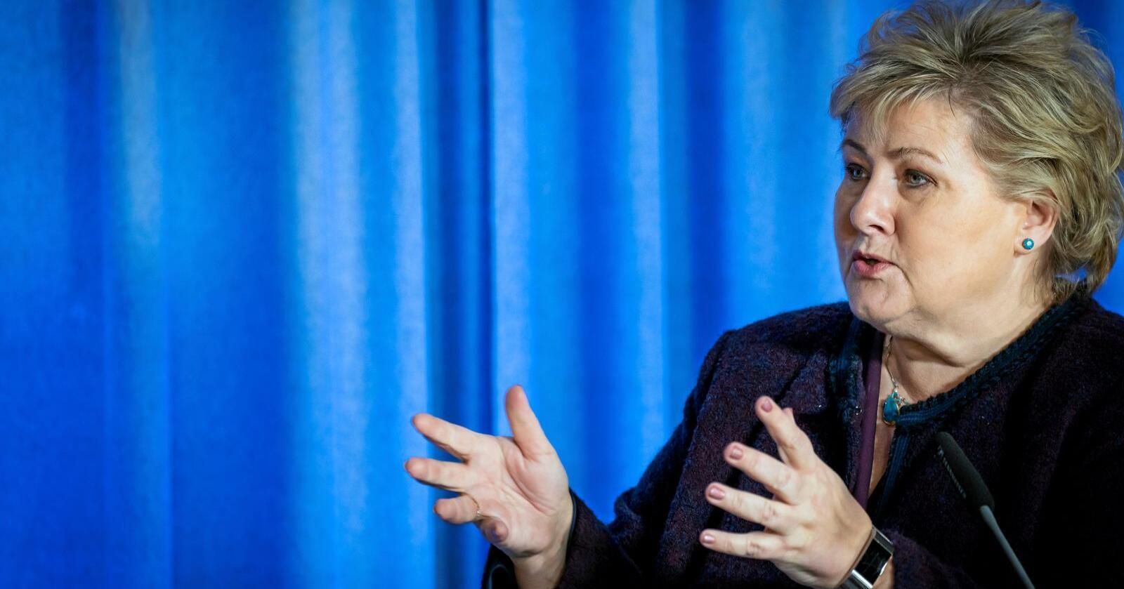 """Robust: Regjeringen og statsminister Erna Solberg vil neppe gi opp ordet """"robust"""", heller ikke når verden og vi er over den dramatiske koronakrisen. Foto: Heiko Junge / NTB scanpix"""